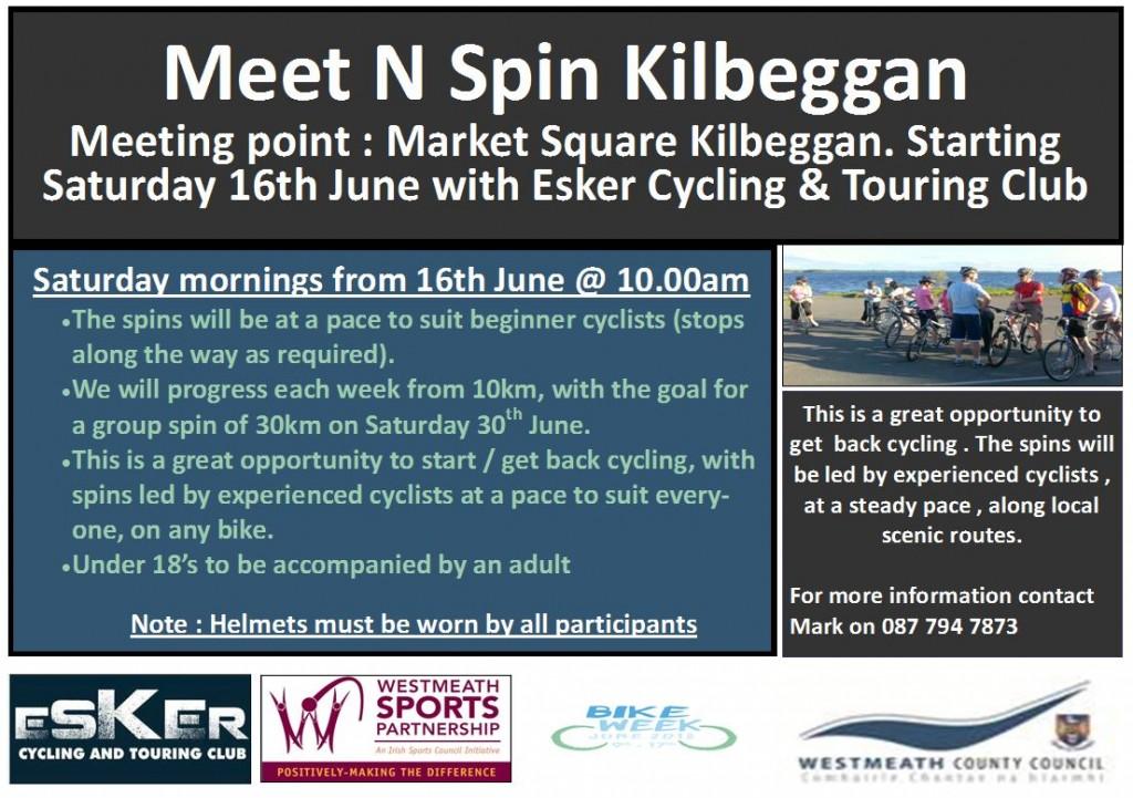 Meet n Spin KIlbeggan - Esker Cycling and Touring Club - Bike week 2018 D2