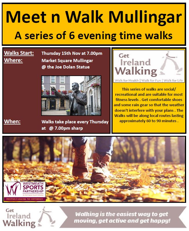 Meet n Walk Mullingar Thursday evening walks