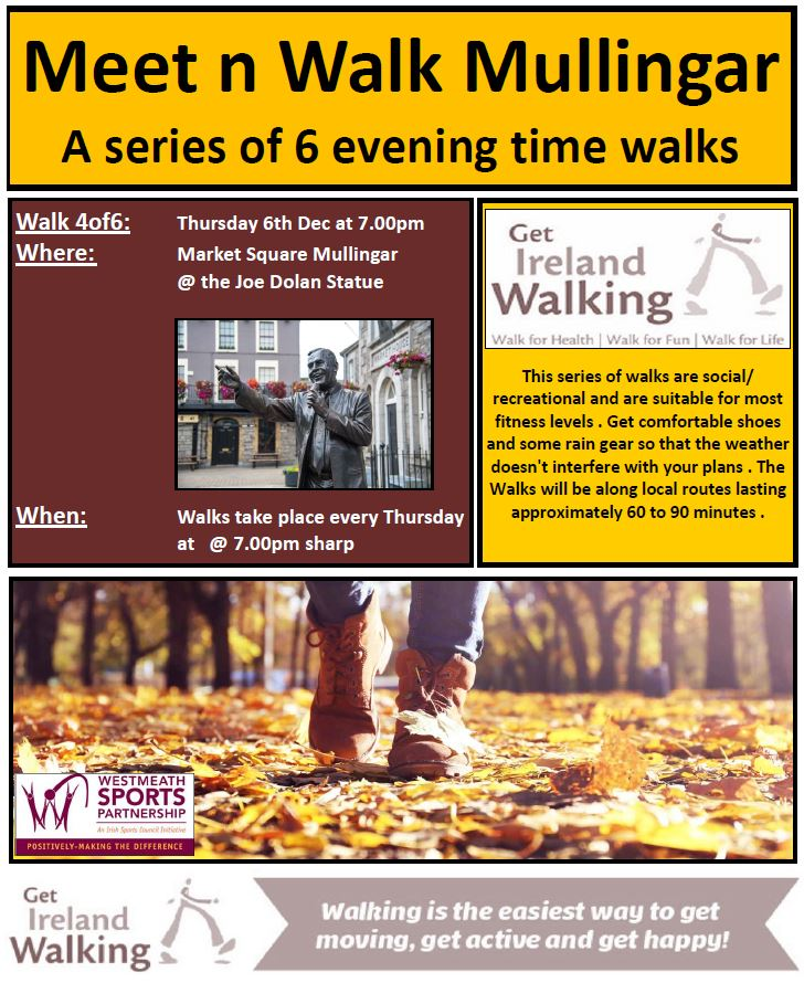 Meet n Walk Mullingar Thursday evening walk 4 of 6