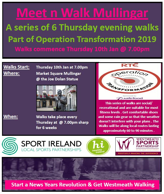 OT Meet n Walk Thursday evenings x 6