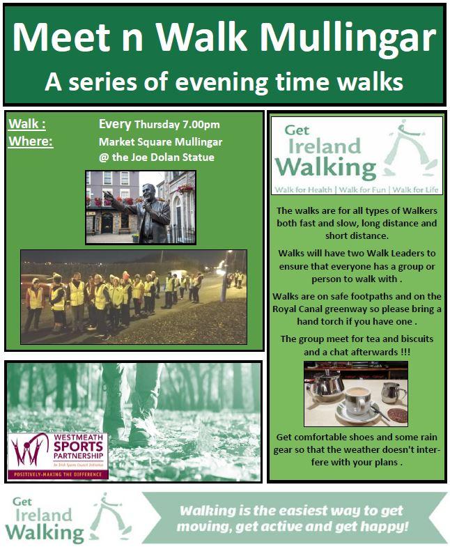 Meet n Walk Mullingar Thursday Evenings New Flyer