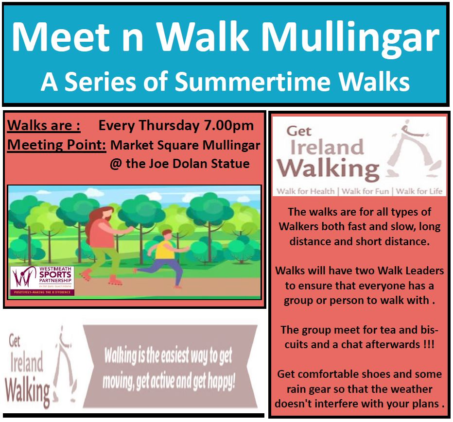 Meet n Walk Mullingar Thursday Summer time Flyer