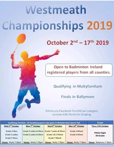 Badminton Championships 2019 Updated