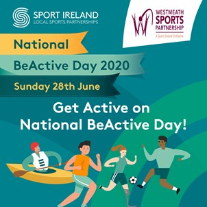 poster- Get active on national be active day with logo