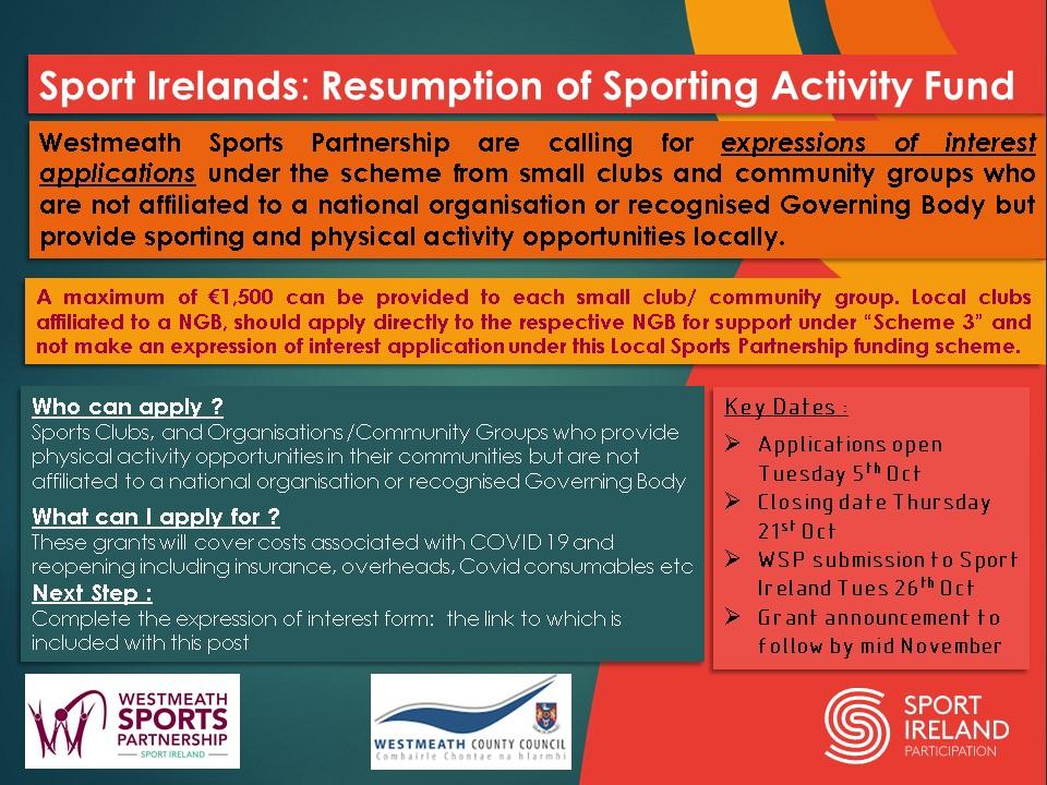 Sport Ireland Scheme 5 Flyer